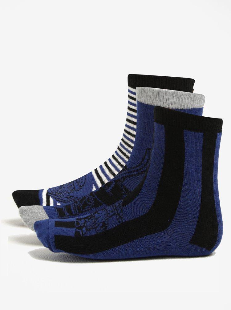 Tmavě modrá sada tří párů klučičích ponožek Lego Wear Ayan