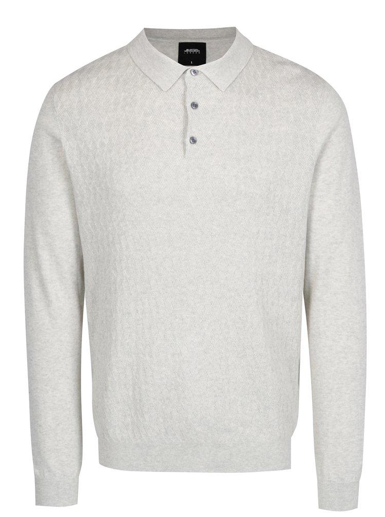 Pulover bej cu guler ascutit - Burton Menswear London