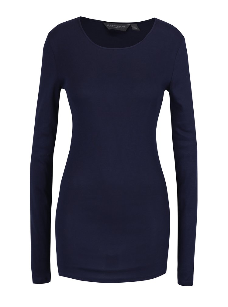 Bluza bleumarin lunga basic - Dorothy Perkins Tall