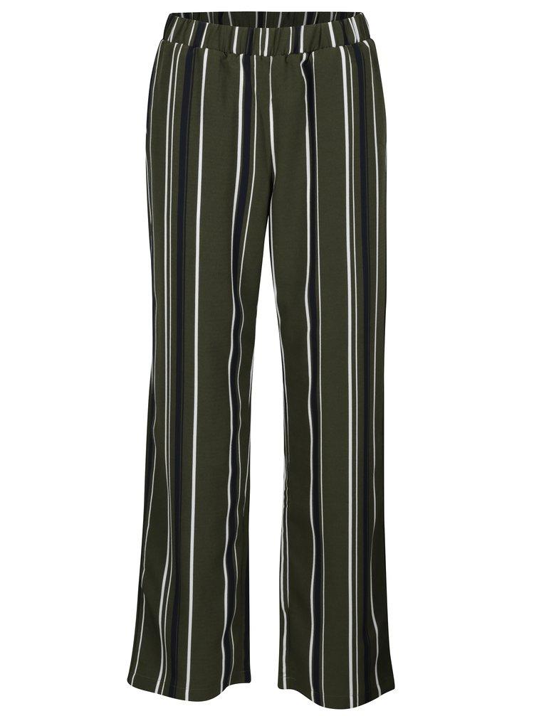 Pantaloni drepti verzi in dungi cu talie inalta VILA Sesilla
