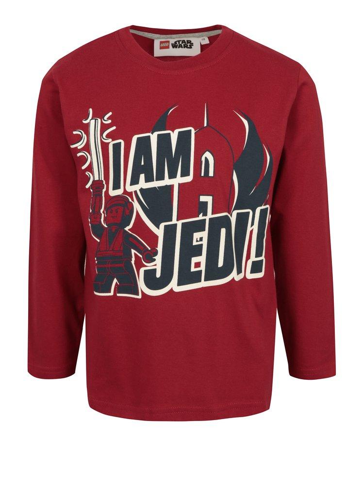 Červené klučičí tričko s potiskem Star Wars Lego Wear