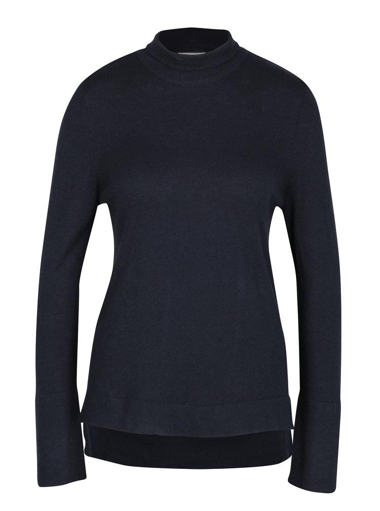 Tmavě modré tričko s rolákem VILA Flary