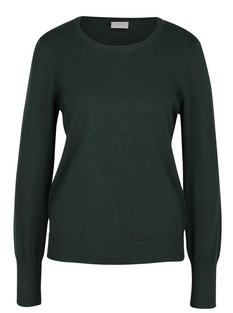 Tmavě zelený lehký svetr VILA Bekka
