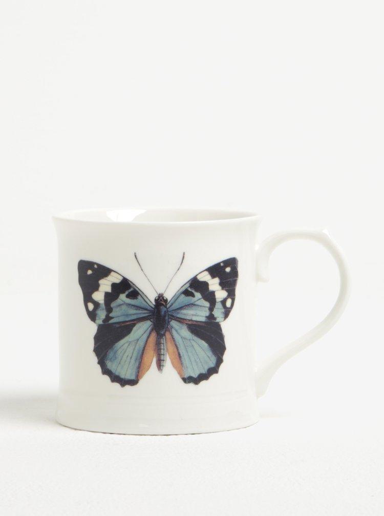 Cana crem din ceramica cu print - Magpie Curios