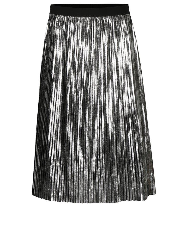 Plisovaná sukně ve stříbrné barvě ONLY Willemina