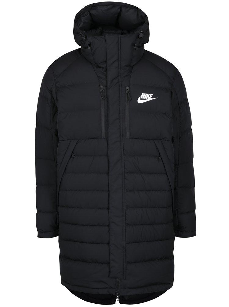 Černý pánský péřový prošívaný kabát Nike Down Fill