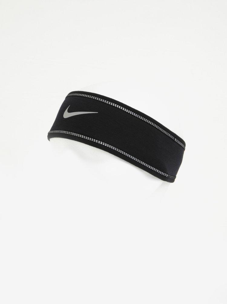 Černá dámská sportovní čelenka s příměsí vlny Nike