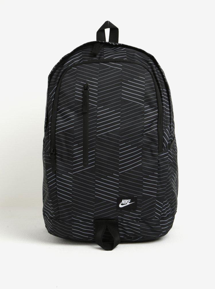 Černý vzorovaný batoh Nike All Access Soleday 25 l