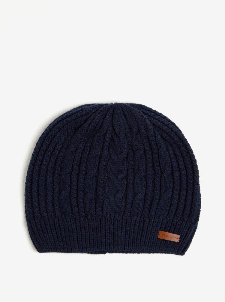 Tmavě modrá pánská čepice GANT