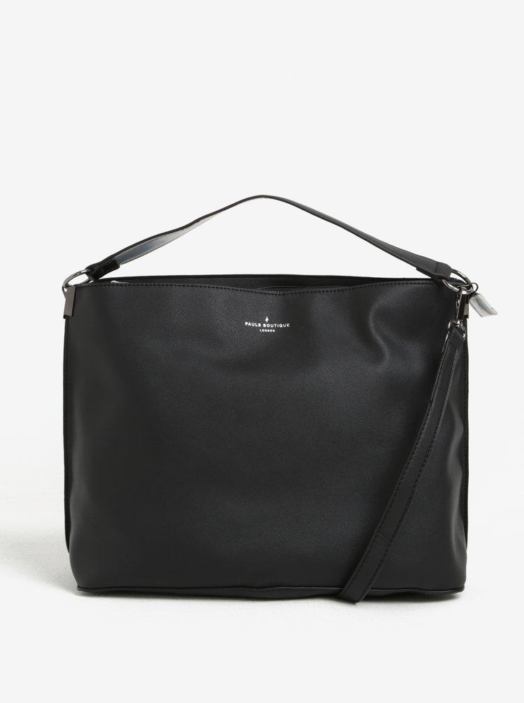 Černá kabelka s odnímatelným popruhem a neonovým vnitřkem Paul's Boutique Iris