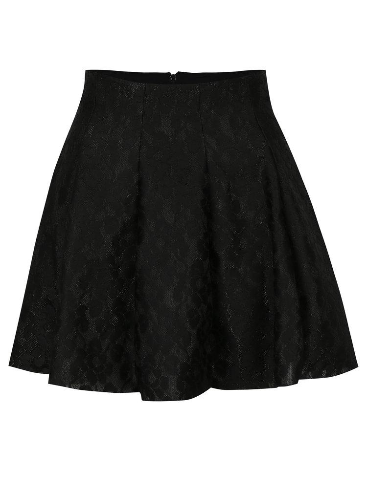 Černá krajková kolová sukně TALLY WEiJL