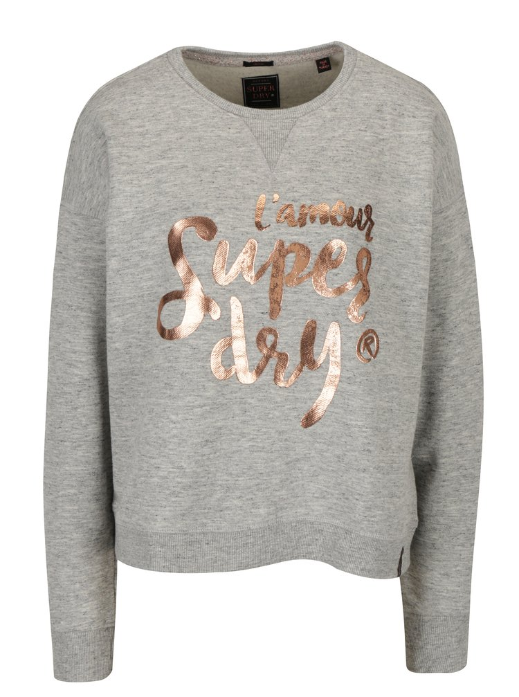 Bluza gri cu print pentru femei - Superdry Northern
