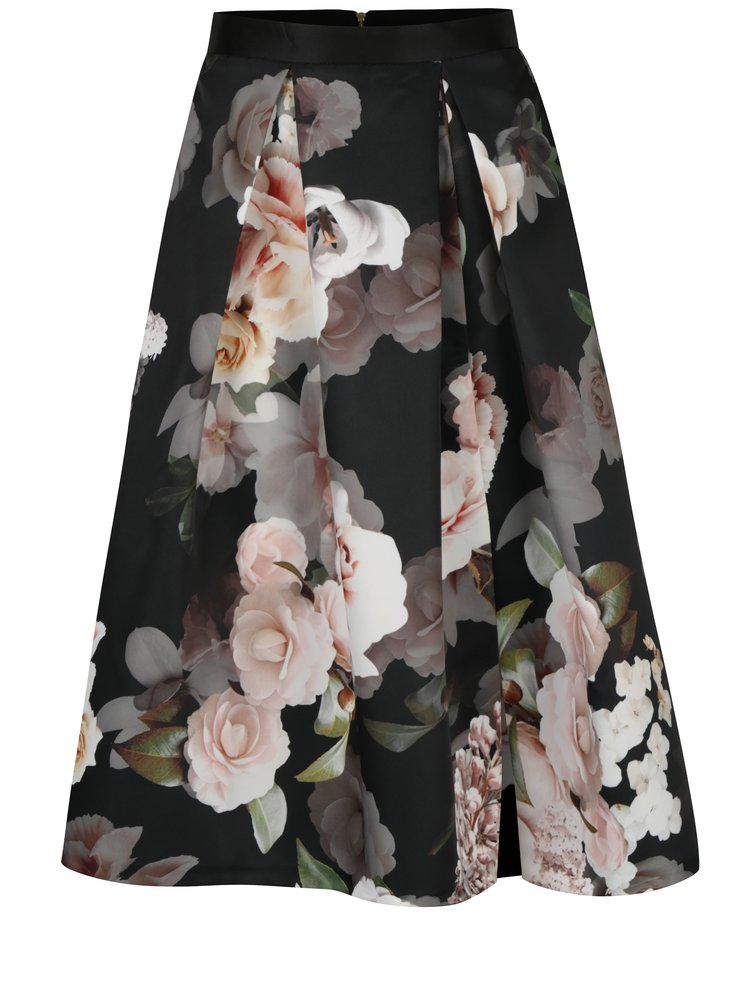 bb4ff82ab2ac Černá květovaná sukně Closet · Černá květovaná sukně Closet