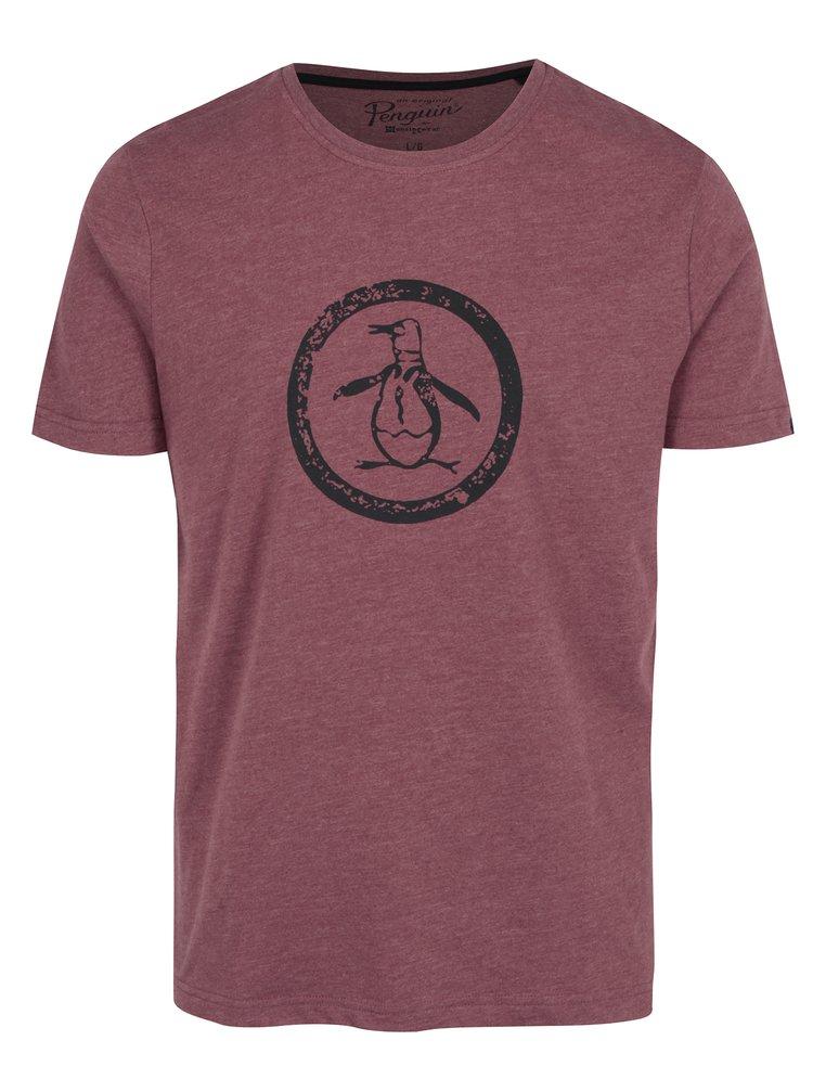 Tricou bordo cu print tip logo - Original Penguin