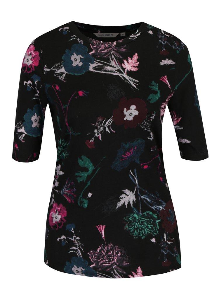 b51d01cae Čierne dámske kvetované tričko Garcia Jeans | ZOOT.sk