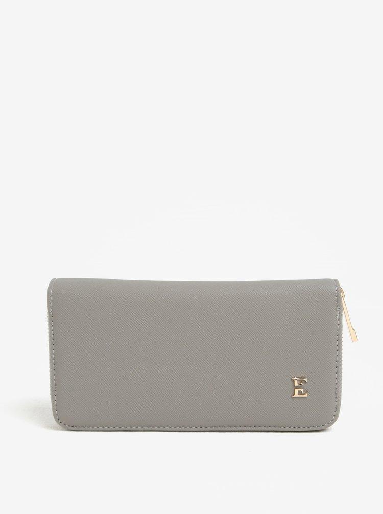 Šedá peněženka na zip Esoria Elisa