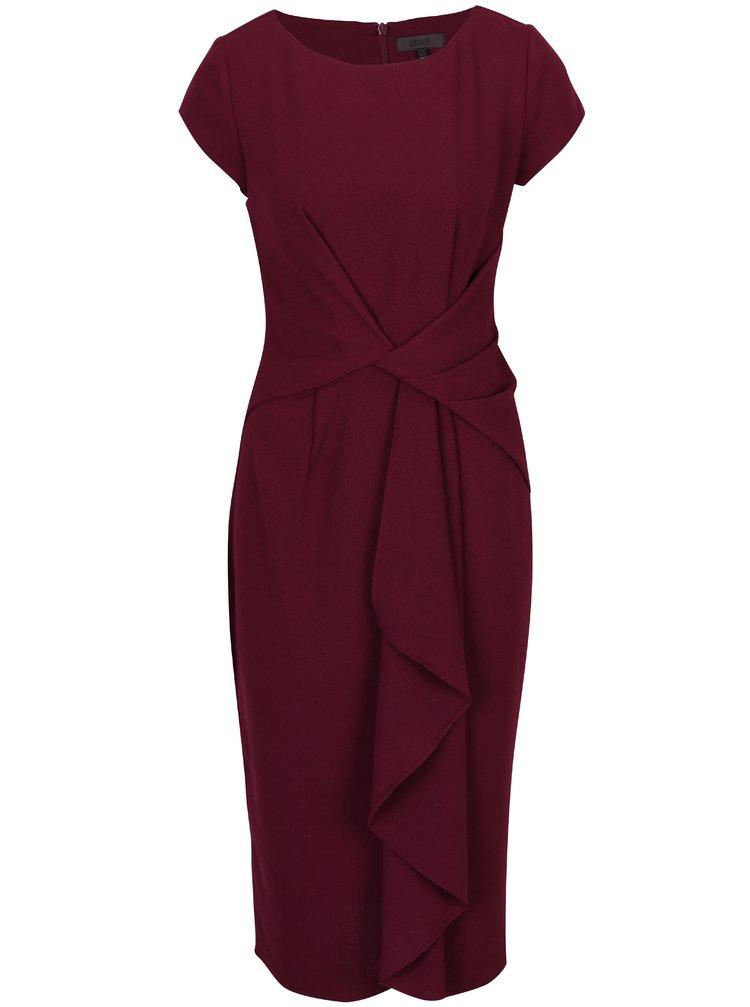 Fialové pouzdrové šaty s řasením Dorothy Perkins