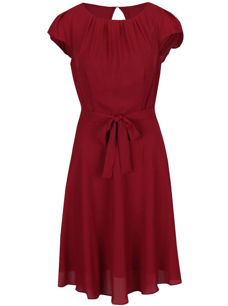 Vínové šaty se zavazováním Billie & Blossom