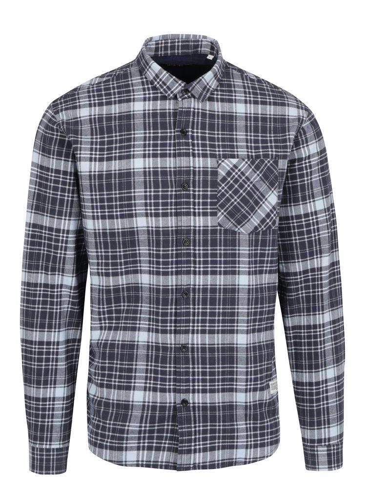 Šedo-modrá kostkovaná košile Shine Original