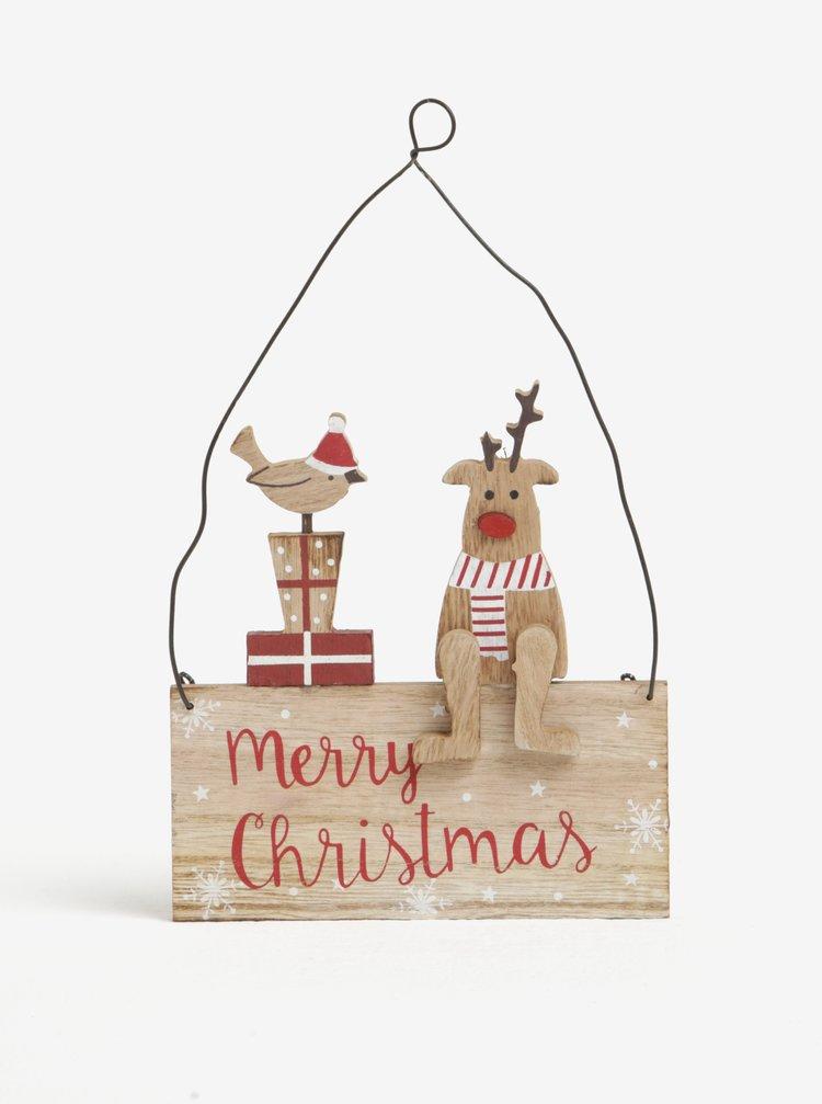 Ornament de Craciun cu ren si pasare - CGB Robin & Reindeer Sign