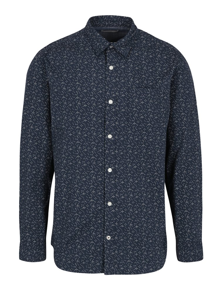 Camasa bleumarin&crem cu print marunt  Jack & Jones Originals Simon