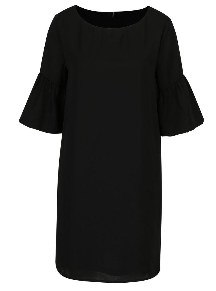 Černé šaty s 3/4 zvonovým rukávem VERO MODA Perfect