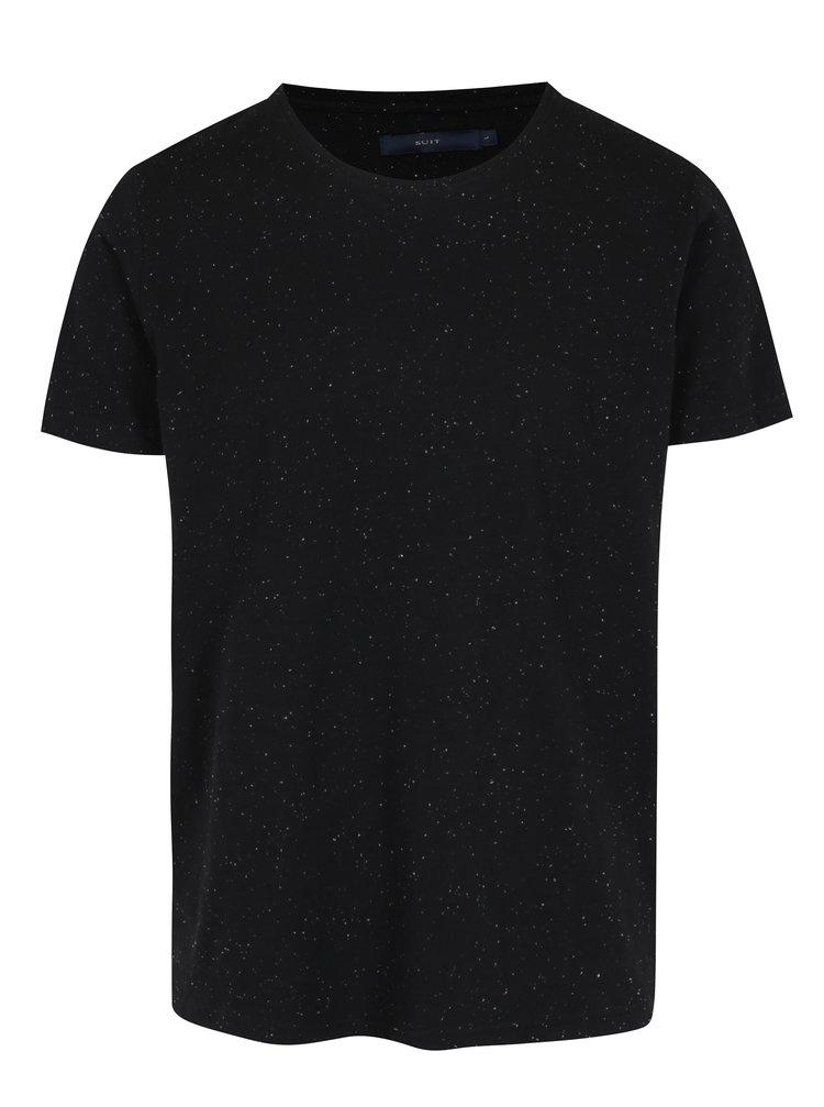 Černé basic tričko s krátkými rukávy SUIT Halifax