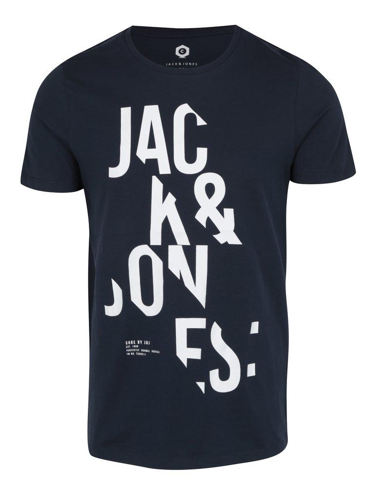 Tmavomodré tričko s krátkym rukávom Jack & Jones Core Cutter Tee