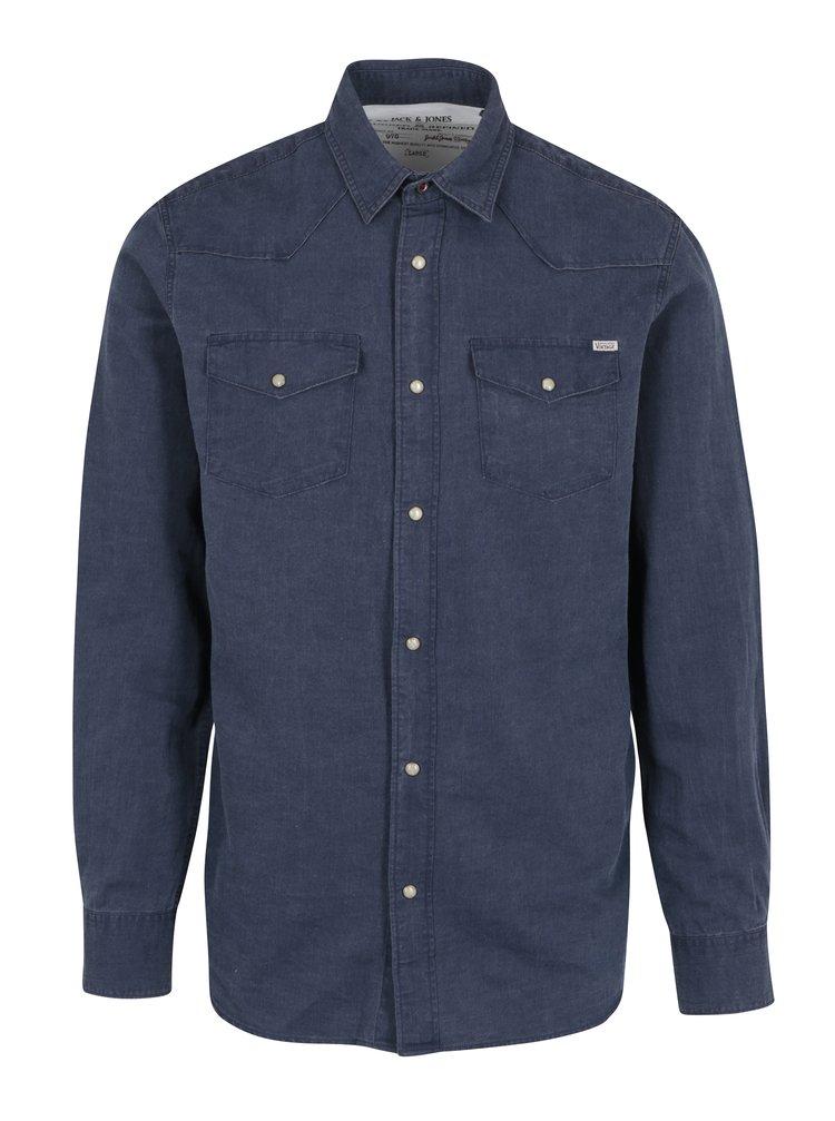 Tmavě modrá košile Jack & Jones Vintage Galway