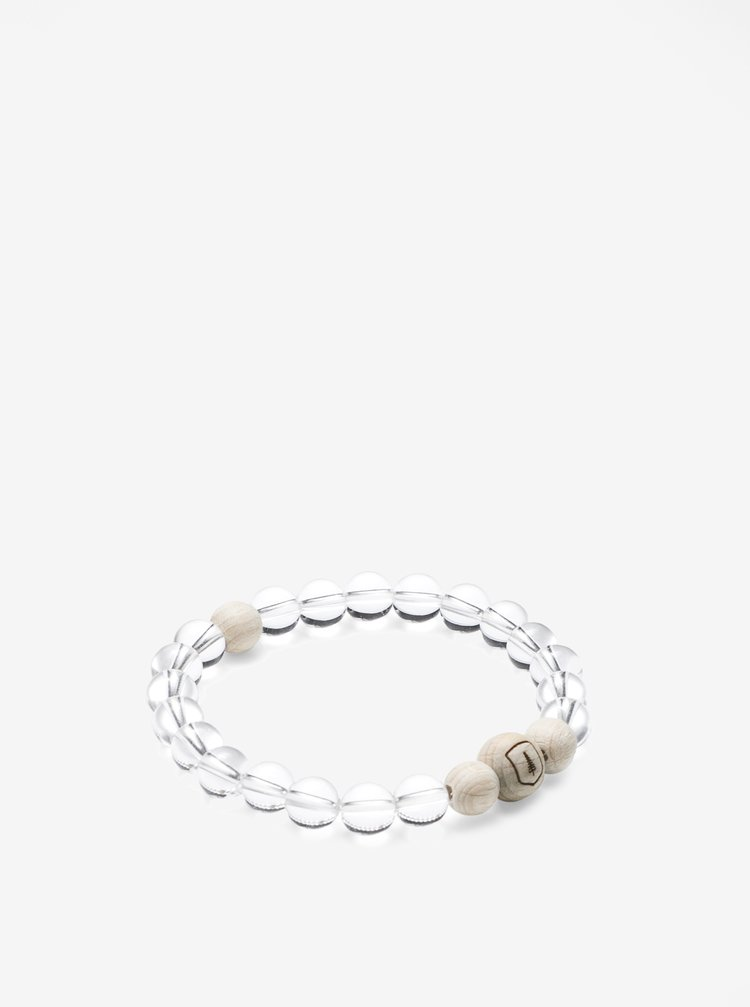 Bratara transparenta din cristal si lemn - BeWooden Aer Bracelet
