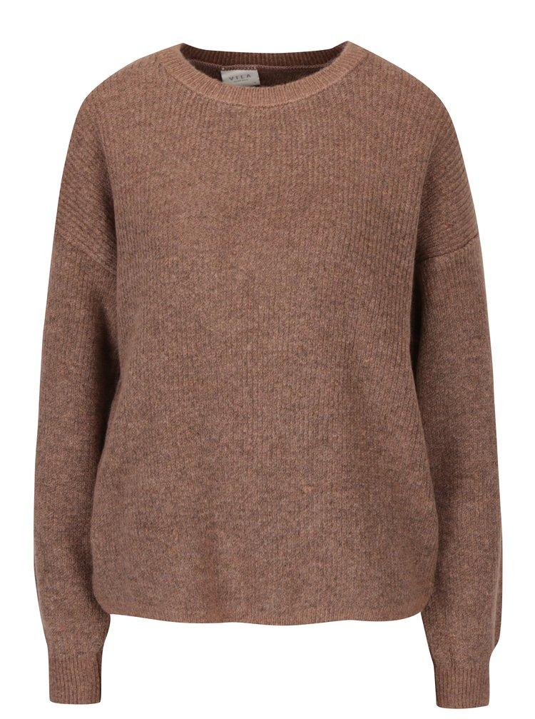 Starorůžový svetr s překládanými zády VILA Samira