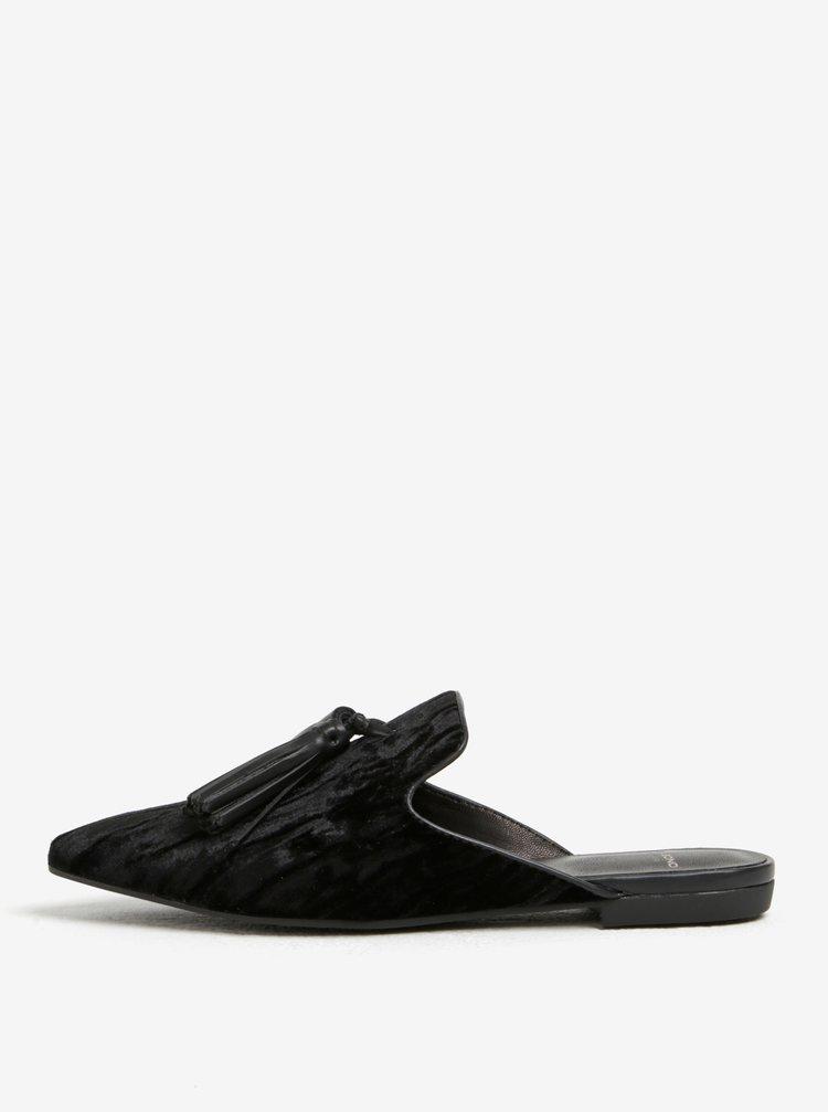 Černé dámské sametové pantofle Vagabond Katlin