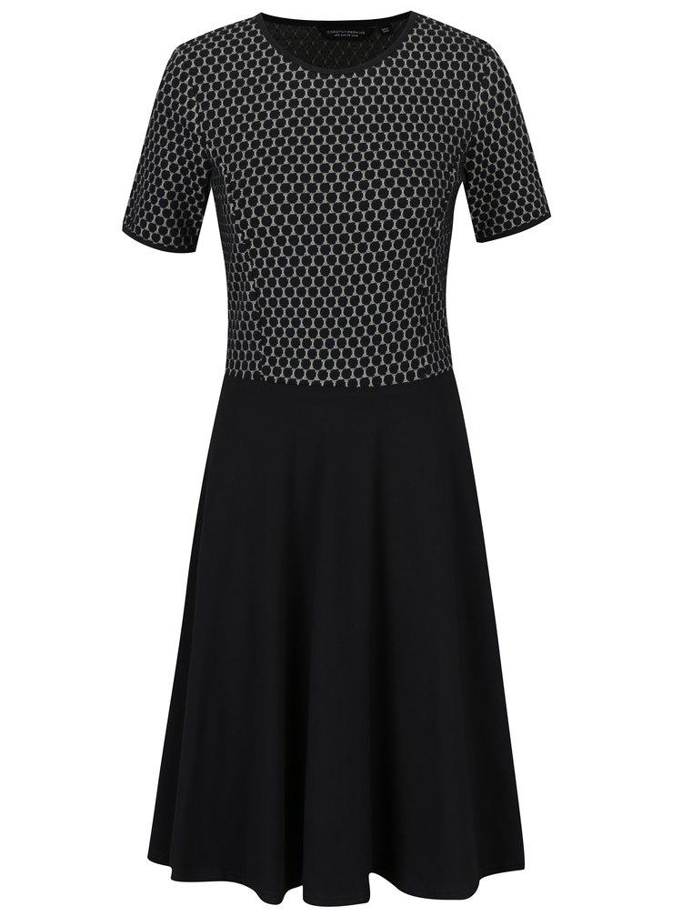 Tmavě modré šaty se vzorovaným topem Dorothy Perkins