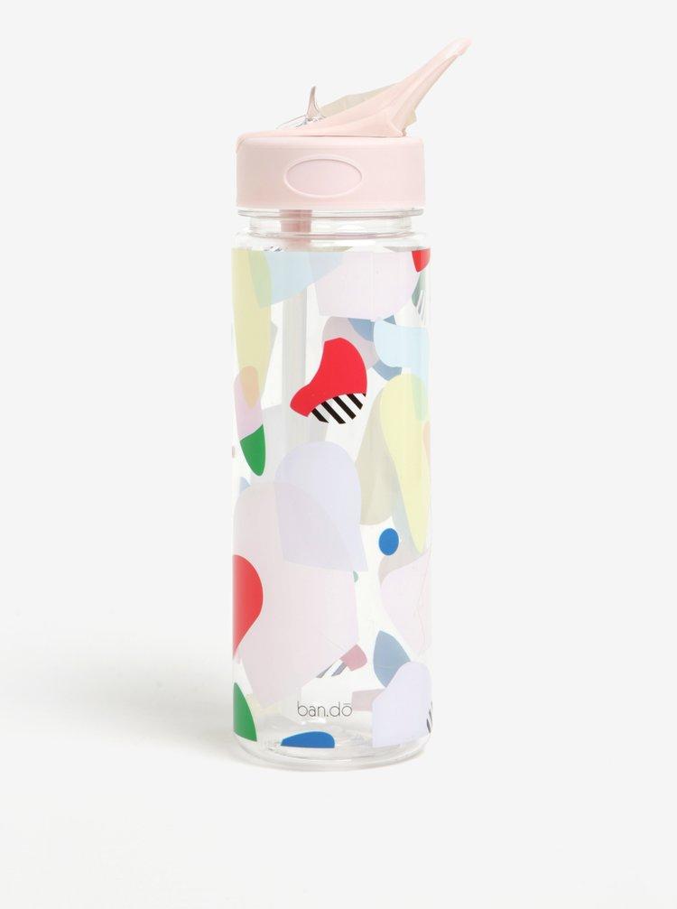 Transparentní láhev na vodu s potiskem ban.do 700 ml