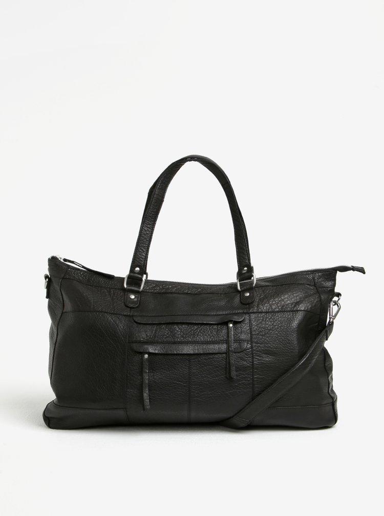Černá kožená kabelka Pieces Rihanna