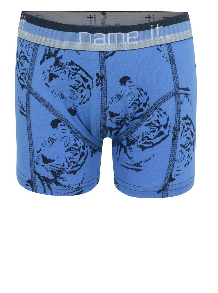 Modré klučičí vzorované boxerky name it Vionava