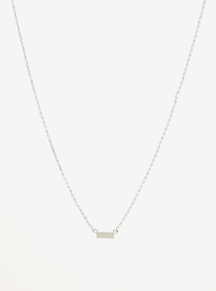 Colier argintiu cu pandantiv dreptunghiular Pieces Anchor