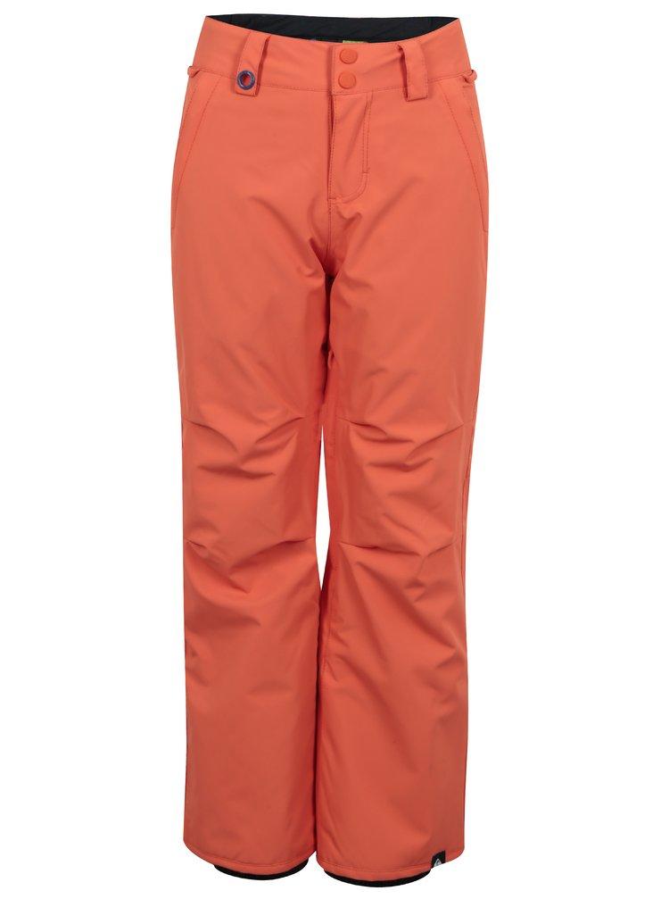 Oranžové klučičí nepromokavé oteplováky Quiksilver
