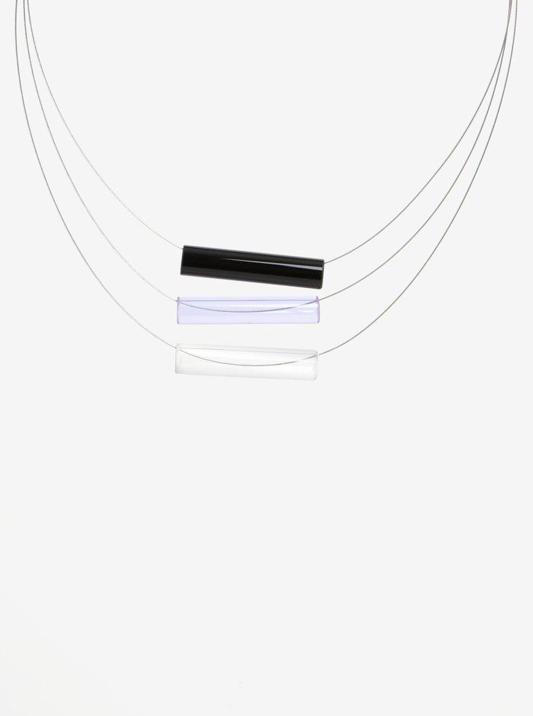 Čierno-modrý sklenený náhrdelník KO-RA-LE Tri
