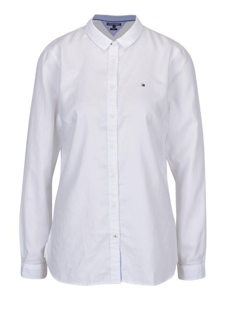 Biela dámska fitted košeľa Tommy Hilfiger Jenna
