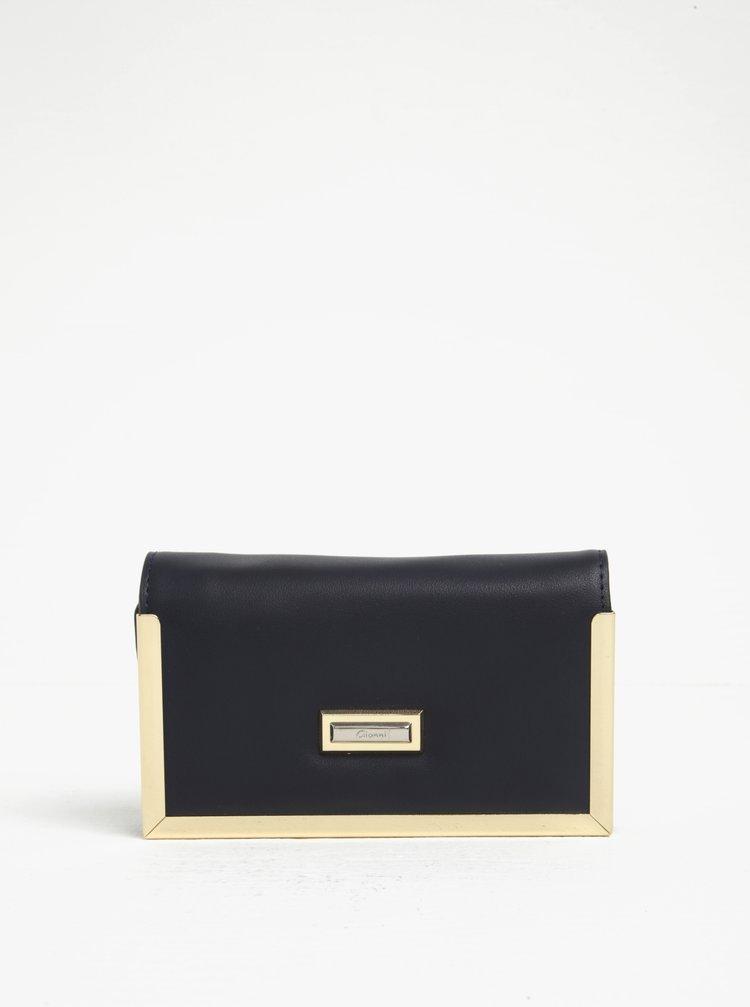 Tmavě modrá peněženka s detaily ve zlaté barvě Gionni Colette
