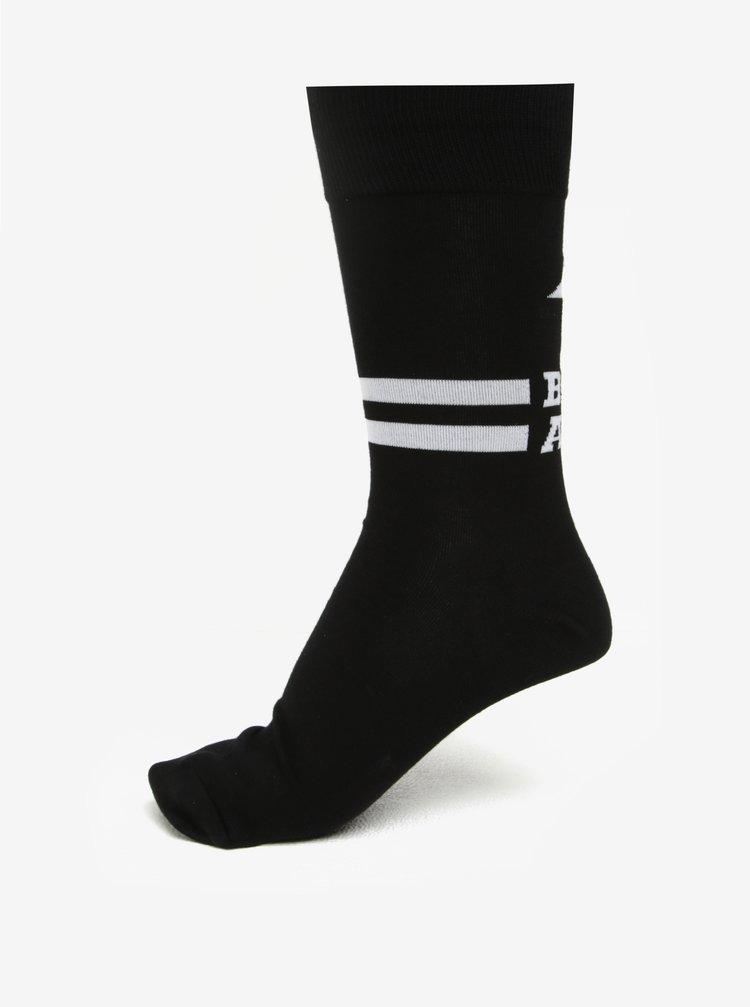 Černé pánské ponožky s nápisem Sock It to Me Badass