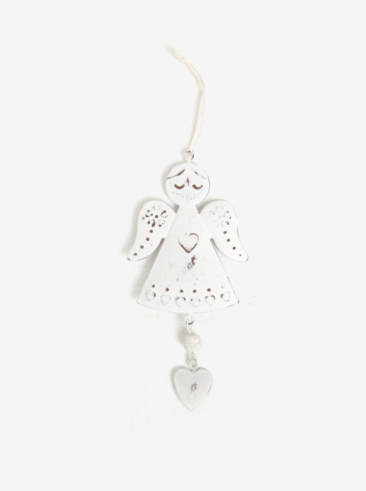 Bílá vánoční dekorace ve tvaru anděla Sass & Belle