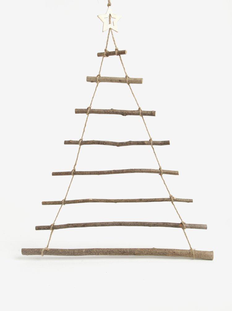 Dřevěná vánoční dekorace ve tvaru stromku Sass & Belle