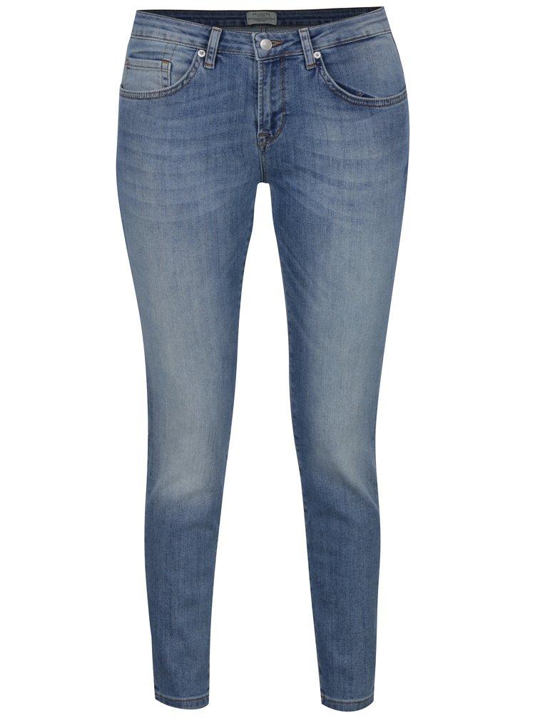 Světle modré super slim džíny Selected Femme Fida