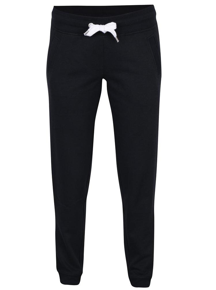 Pantaloni sport negri cu snur in talie si buzunare - ONLY Coolie