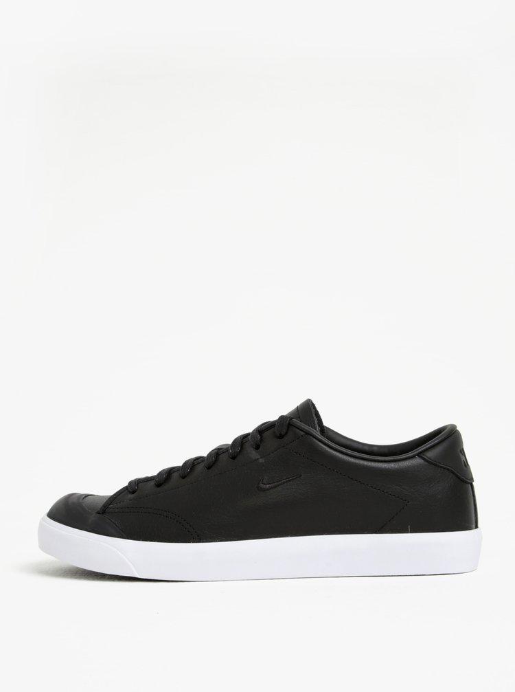 Čierne pánske kožené tenisky Nike All Court 2 Low