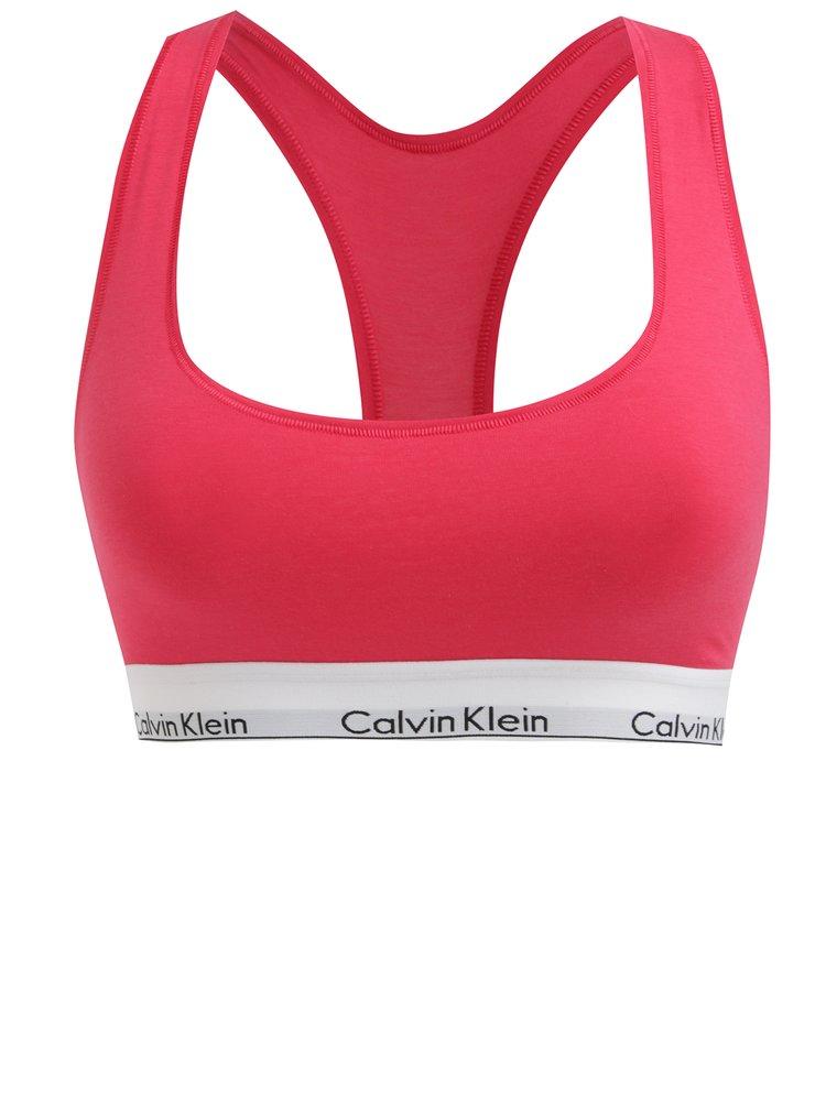 Bustier sport roz cu banda elastica cu logo - Calvin Klein Underwear