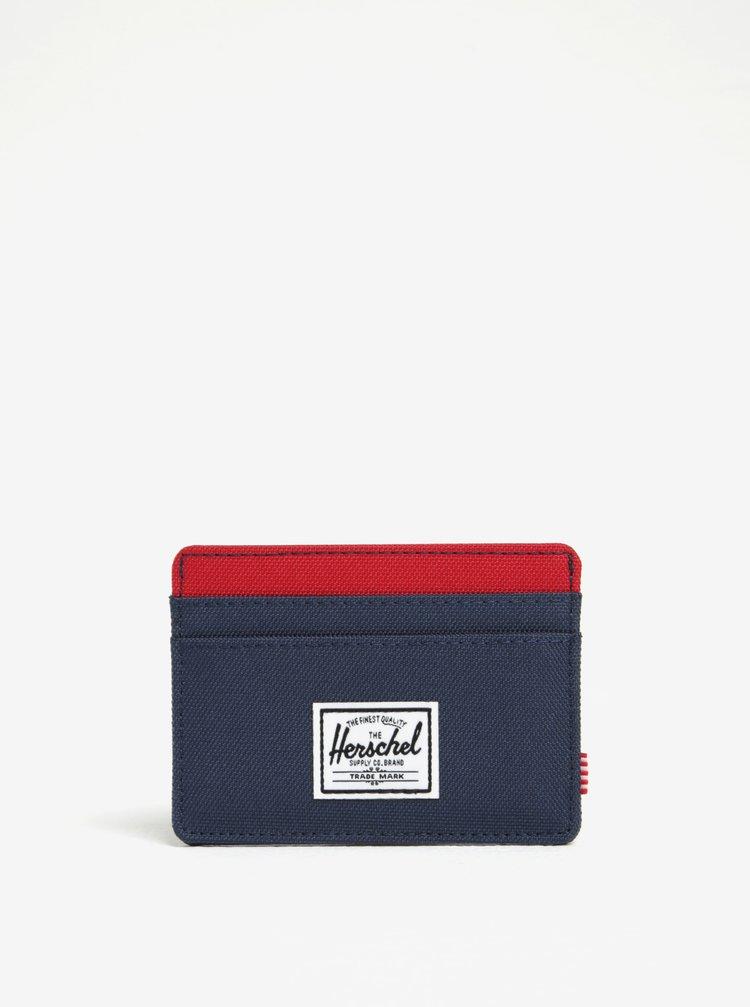 Portofel bleumarin&rosu cu tehnologie anti-furt Herschel Charlie