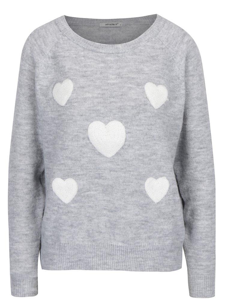 Svetlosivý sveter Haily´s Emma